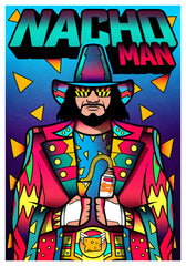 ZillaMunch Poster - Nacho Man - Blue