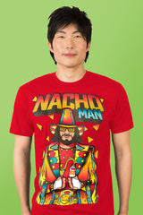 ZillaMunch Tee - Nacho Man - Men - Red