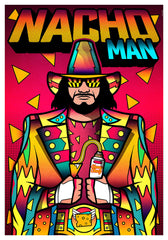 ZillaMunch Poster - Nacho Man - Red
