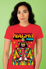ZillaMunch Tee - Nacho Man - Women - Red