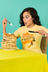 ZillaMunch Tee - Mount Pancake - Women - Banana Cream