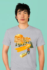 ZillaMunch Tee - Mount Pancake - Men - Heather Gray
