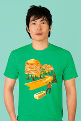 ZillaMunch Tee - Mount Pancake - Men - Kelly Green