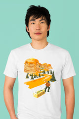 ZillaMunch Tee - Mount Pancake - Men - White