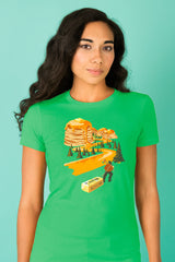ZillaMunch Tee - Mount Pancake - Women - Kelly Green