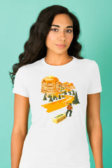 ZillaMunch Tee - Mount Pancake - Women - White