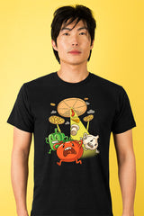 ZillaMunch Tee - Pizza UFO - Men - Black