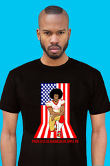 ZillaMunch Tee - Protest Is As American As Apple Pie - Men - Black