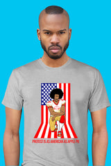 ZillaMunch Tee - Protest Is As American As Apple Pie - Men - Heather Gray