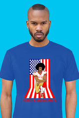 ZillaMunch Tee - Protest Is As American As Apple Pie - Men - Royal