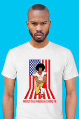 ZillaMunch Tee - Protest Is As American As Apple Pie - Men - White