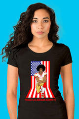 ZillaMunch Tee - Protest Is As American As Apple Pie - Women - Black