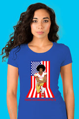 ZillaMunch Tee - Protest Is As American As Apple Pie - Women - Royal