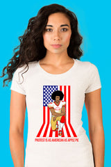 ZillaMunch Tee - Protest Is As American As Apple Pie - Women - White
