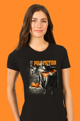 ZillaMunch Tee - Pulp Fiction - Women - Vintage Black