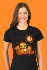 ZillaMunch Tee - Scary Trumpkin - Women - Black
