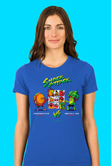 ZillaMunch Tee - Snack Attack - Women - Royal