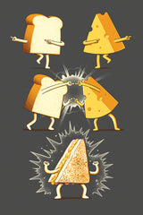 ZillaMunch Tee - Super Grilled Cheese - Artwork