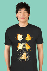 ZillaMunch Tee - Super Grilled Cheese - Men - Black