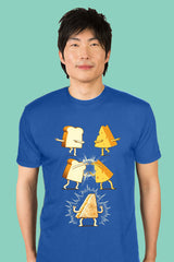 ZillaMunch Tee - Super Grilled Cheese - Men - Royal