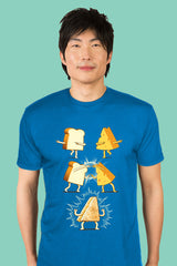 ZillaMunch Tee - Super Grilled Cheese - Men - Turquoise