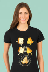 ZillaMunch Tee - Super Grilled Cheese - Women - Black