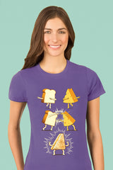 ZillaMunch Tee - Super Grilled Cheese - Women - Purple Rush
