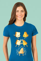 ZillaMunch Tee - Super Grilled Cheese - Women - Turquoise