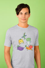 ZillaMunch Tee - Veggie Might - Men - Heather Gray