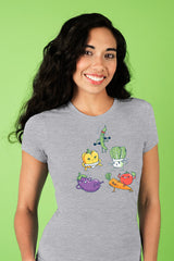 ZillaMunch Tee - Veggie Might - Women - Heather Gray