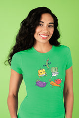 ZillaMunch Tee - Veggie Might - Women - Kelly Green