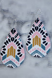 Aztec Print Jane & Cope Leather Earrings