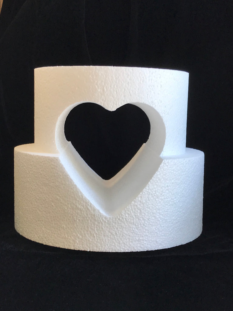 2 Tier Dummy Cake with Cutout