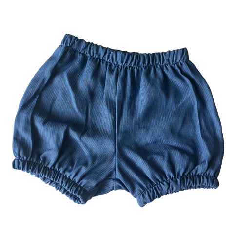 Denim Bloomers - White Pinstripes