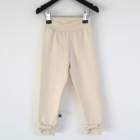 Bow Leggings - Cream