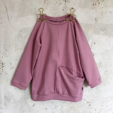Pocket sweatshirt - old rose