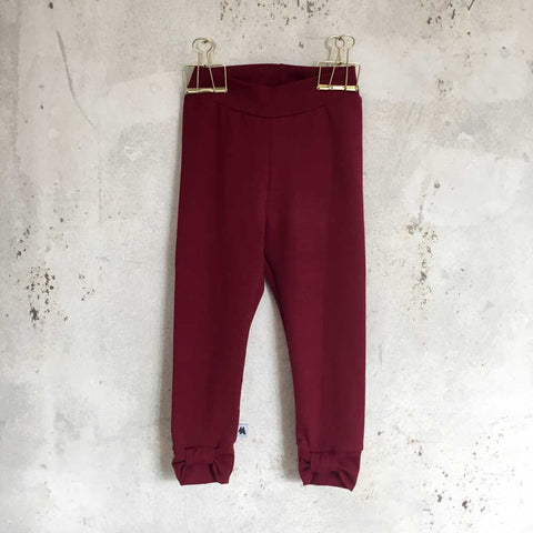Bow leggings - bordeaux