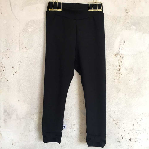 Bow leggings - black
