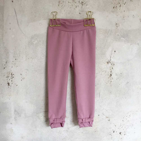 Bow leggings - old rose