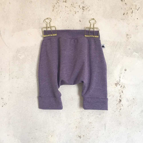 Baggy shorts - purple melange