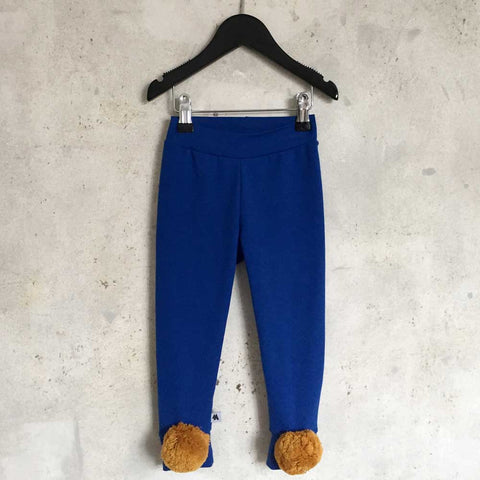 Pom leggings - Blue/Ocre