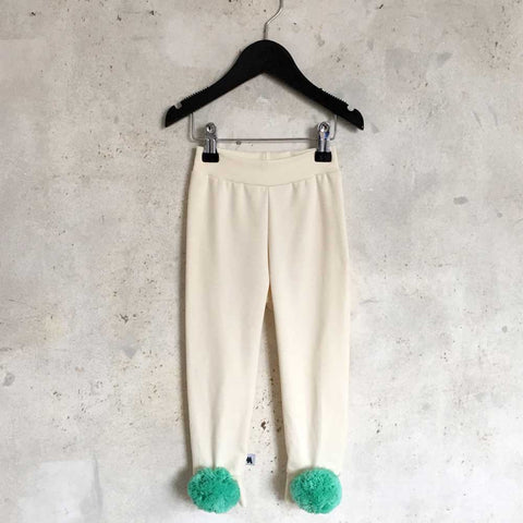 Pom leggings - Cream/Mint