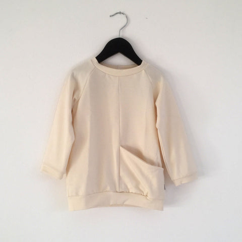 Pocket Sweatshirt - Cream