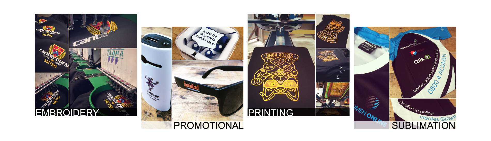 Embroidery | Promotional Products | Screen Printing | Sublimation Teamwear | Christchurch | New Zealand