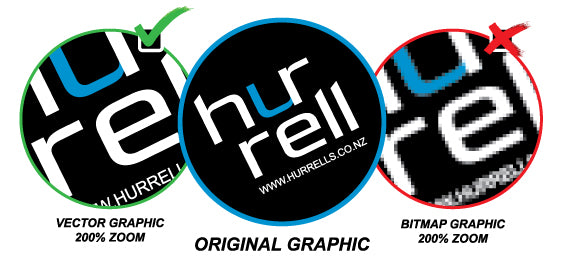 Hurrell Uniforms Branding Guidelines Vector vs Bitmap