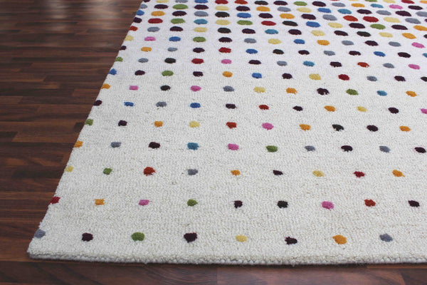Scattered Dots 5 x8 Handmade Floral Persian Style Wool Area Rug