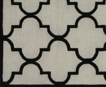 Load image into Gallery viewer, Blair Scroll Beige Black Handmade Persian Style Woolen Area Rug Carpet - TulipFiesta - 1