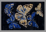 Butterfly Blue Handmade Floral Persian Wool 5 x 8 Living Room Area Rug - TulipFiesta - 5