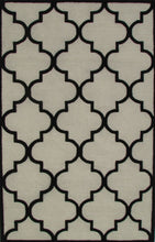 Load image into Gallery viewer, Blair Scroll Beige Black Handmade Persian Style Woolen Area Rug Carpet - TulipFiesta - 2