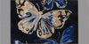 Butterfly Blue Handmade Floral Persian Wool 5 x 8 Living Room Area Rug - TulipFiesta - 1